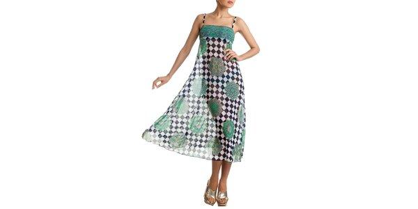 Dámská vzorovaná barevná sukně-šaty Charmante