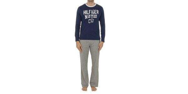 Pánské pyžamo s šedými kalhotami Tommy Hilfiger