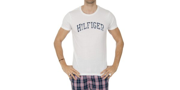 Pánské bílé tričko s nápisem Tommy Hilfiger