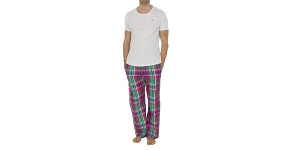 Pánské pyžamo s barevnými kalhotami Tommy Hilfiger