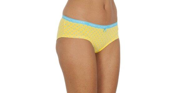 Dámské žluto-modré puntíkaté kalhotky Tommy Hilfiger
