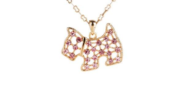 Dámský náhrdelník s přívěskem pejska Fifi Ange