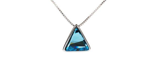 Dámský náhrdelník s modrým trojúhelníkovým přívěskem Fifi Ange