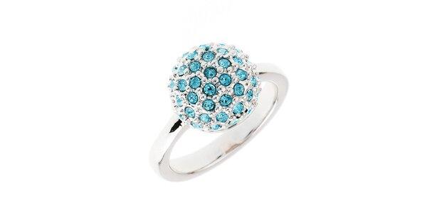 Dámský prstýnek s modrými krystalky Fifi Ange