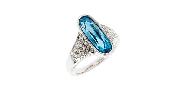 Dámský prstýnek s modrým oválným krystalem Fifi Ange
