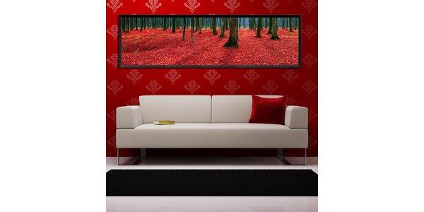 Les červených listů