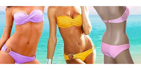 Dvoudílné plavky Hawai v 6 stylových barvách