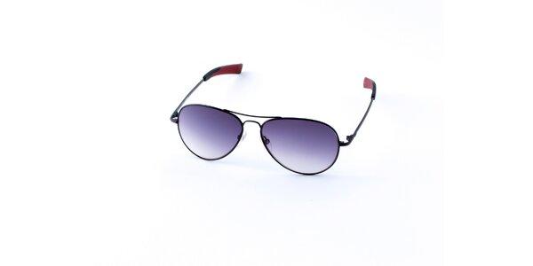 Pánské černé sluneční brýle Guess s fialovými skly
