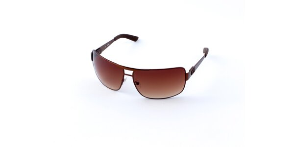 Pánské hnědé sluneční brýle Guess