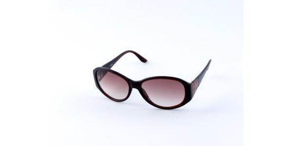 Dámské tmavě hnědé sluneční brýle Guess