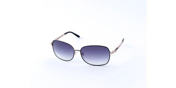 Dámské stříbrno-černé sluneční brýle Guess