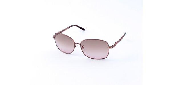 Dámské zlato-hnědé sluneční brýle Guess