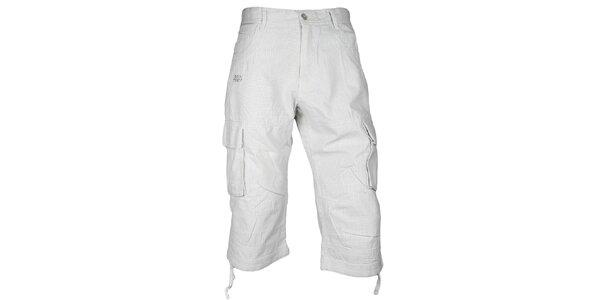 Pánské bílé potištěné 3/4 kalhoty Authority