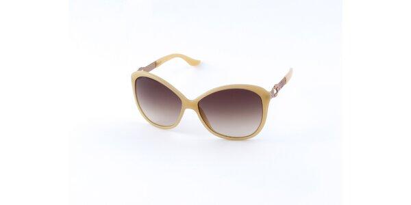 Dámské vanilkově žluté sluneční brýle Guess