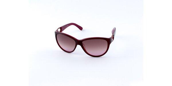 Dámské vínové sluneční brýle Guess