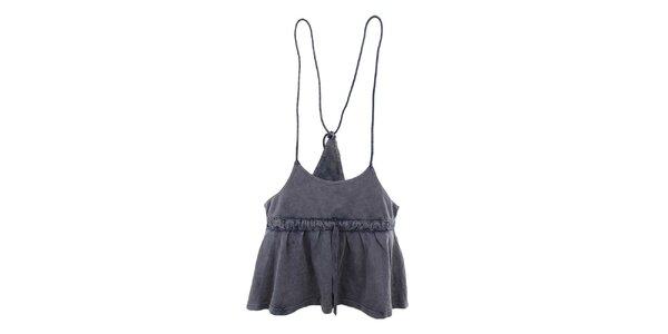 Dámská modrošedá sukně se šňůrkami Timeout