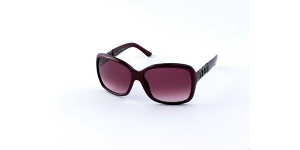 Dámské tmavě vínové sluneční brýle Guess