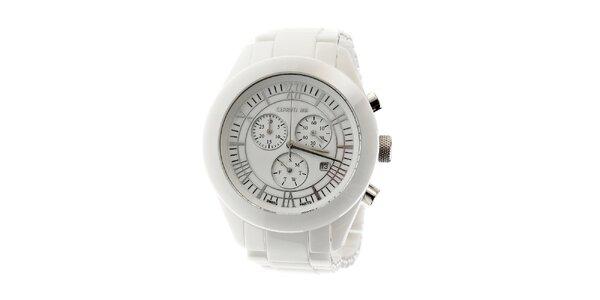 Bílé keramické hodinky Cerruti 1881