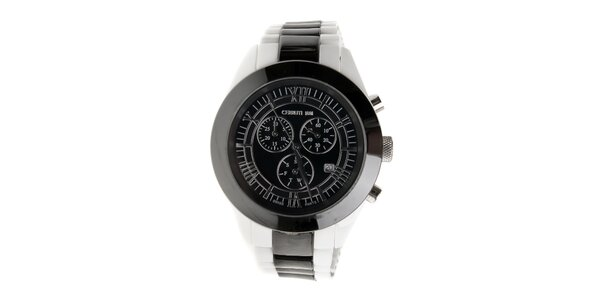 Černo-bílé keramické hodinky Cerruti 1881