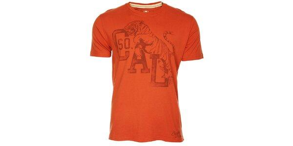 Pánské červené triko Timeout s potiskem