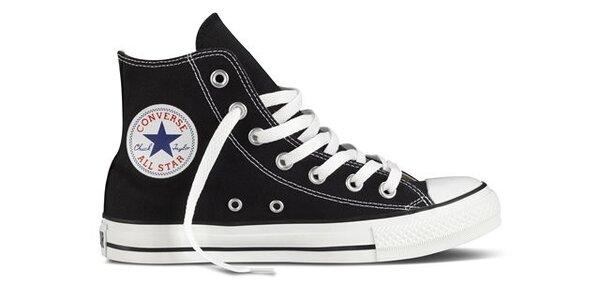 Černé kotníkové tenisky Converse