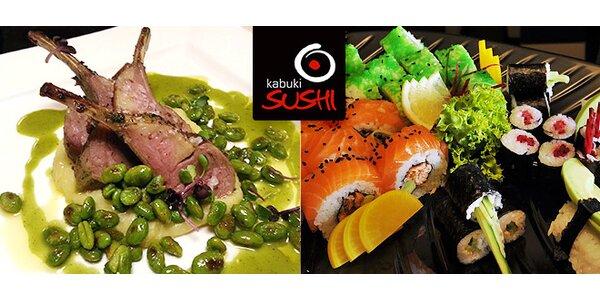 Bohaté degustační menu v kabuki restaurant pro dva