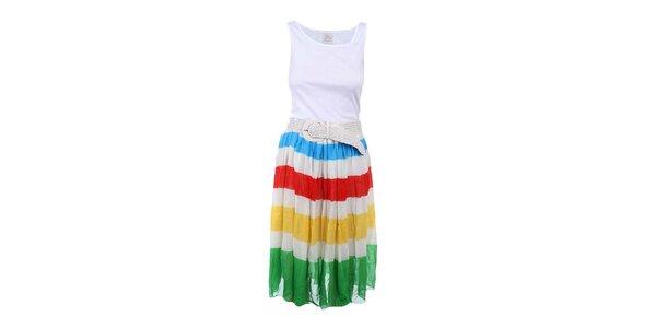 Dámské šaty s pruhovanou sukní Dislay DY Design