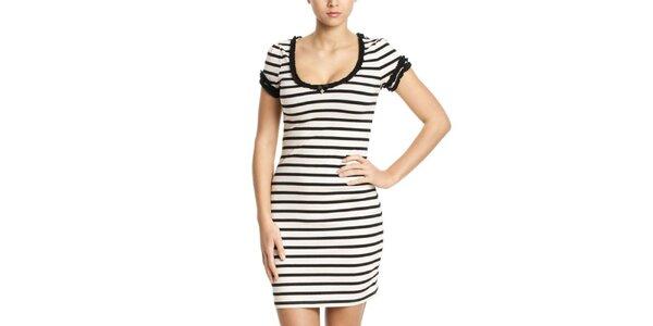 Dámské černo-bílé pruhované šaty Vive Maria