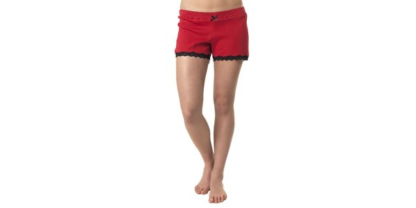 Dámské červené spací šortky Vive Maria