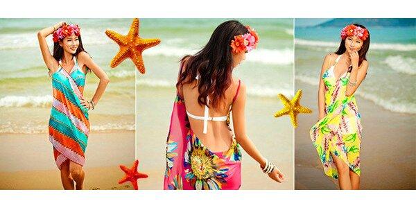 Zavinovací plážové šaty včetně dopravy