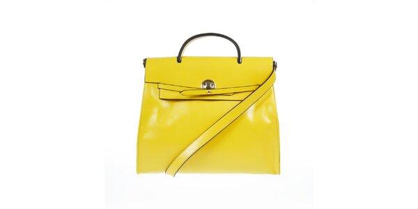 Dámská žlutá kožená kabelka Belle & Bloom