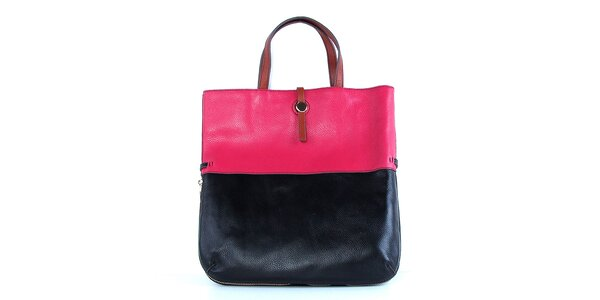 Dámská kožená kabelka s růžovým pruhem Belle & Bloom