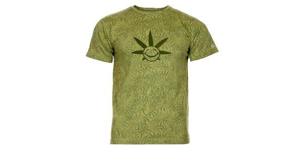Pánské světle zelené tričko Bushman s potiskem