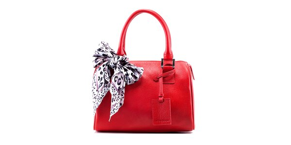 Dámská červená kožená kabelka Belle & Bloom