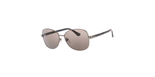 Dámské kovové oválné sluneční brýle ve stříbrném provedení Michael Kors