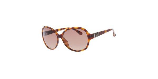 Dámské žíhané oválné sluneční brýle Michael Kors