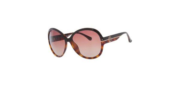 Dámské černo-žíhané sluneční brýle Michael Kors