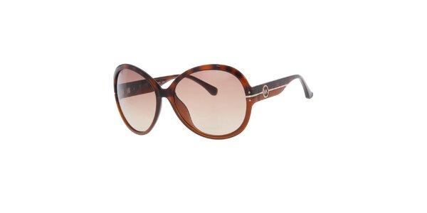 Dámské hnědo-žíhané sluneční brýle Michael Kors