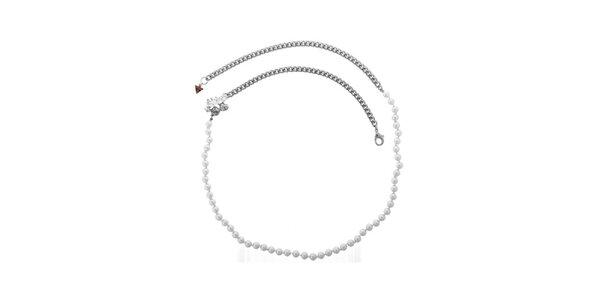 Dámský elegantní náhrdelník s perličkami Guess