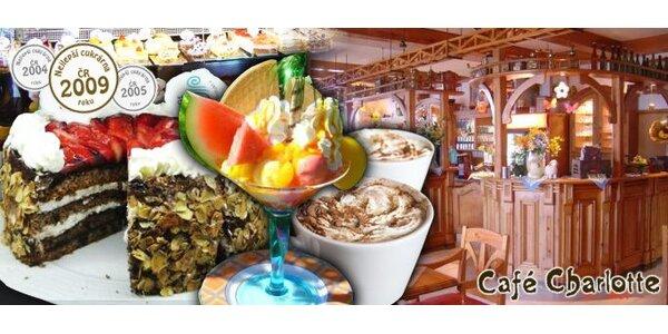 135 Kč za sladké menu jedné z nejlepších cukráren - Café Charlotte.