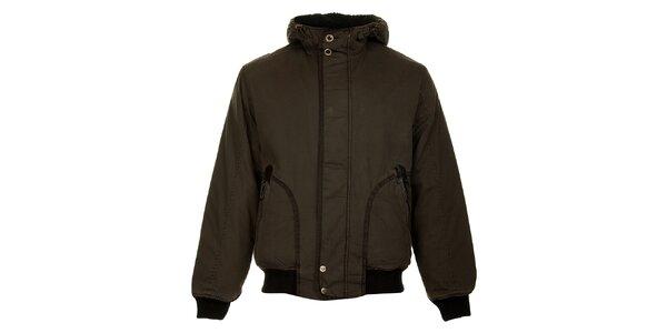 Pánská tmavě hnědá zimní bunda Bushman