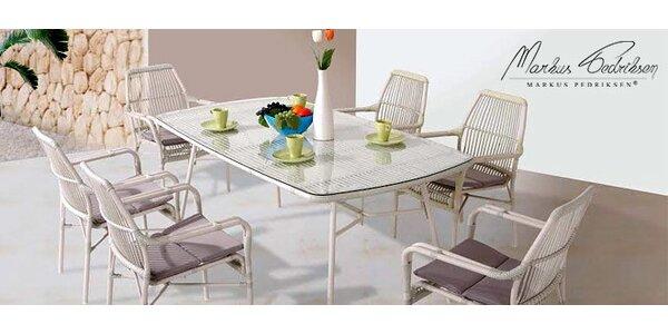 Luxusní jídelní stůl a 6 židlí Provence
