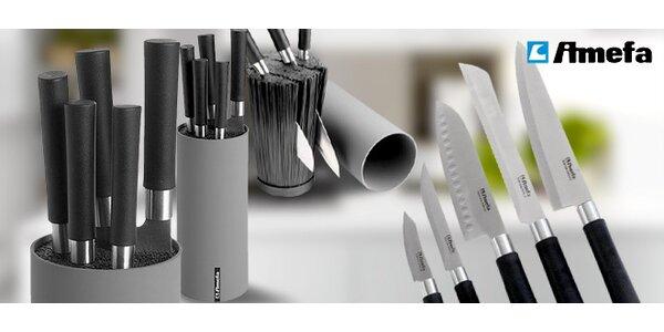 5 kvalitních nožů Amefa včetně držáku