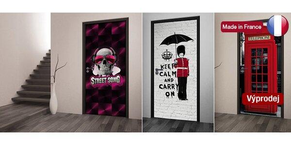 Výprodej! Designové fototapety na dveře z Francie