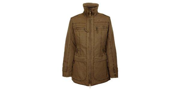 Dámský zimní khaki kabátek Bushman