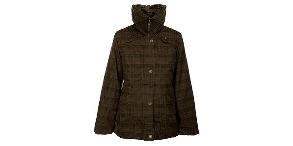 Dámská khaki zimní bunda Bushman s kotskovaným potiskem