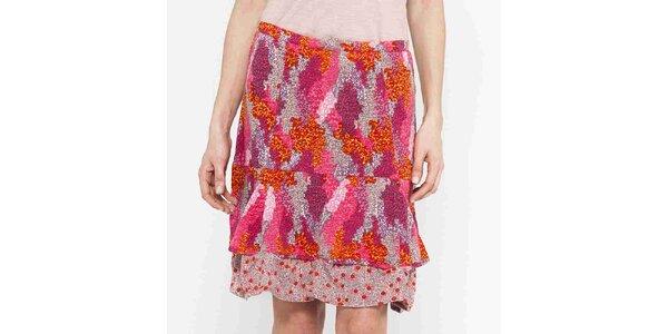 Dámská červeno-růžová krátká sukně Mahal