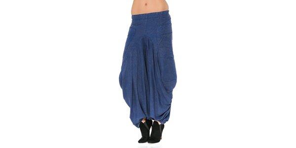 Dámské modré harémové kalhoty Mahal