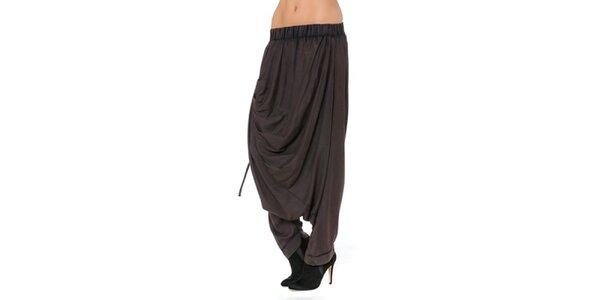 Dámské hnědé volné kalhoty Mahal