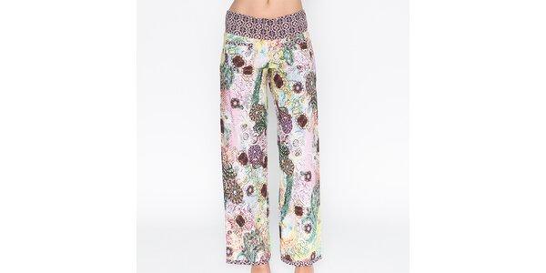 Dámské barevně potištěné kalhoty Mahal